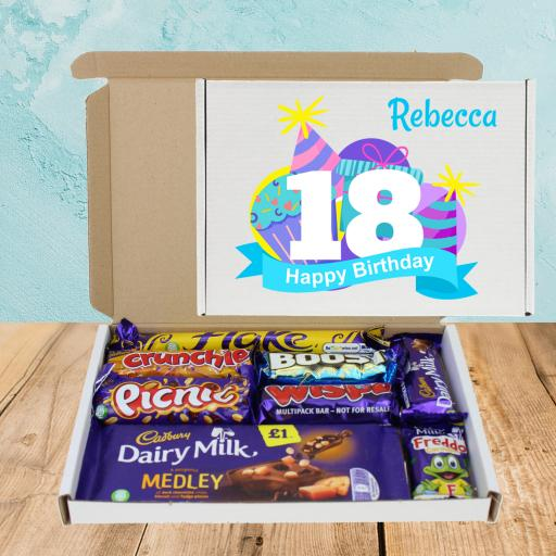 Send Cadburys Chocolate Cake & Hats ANY Age Birthday Box