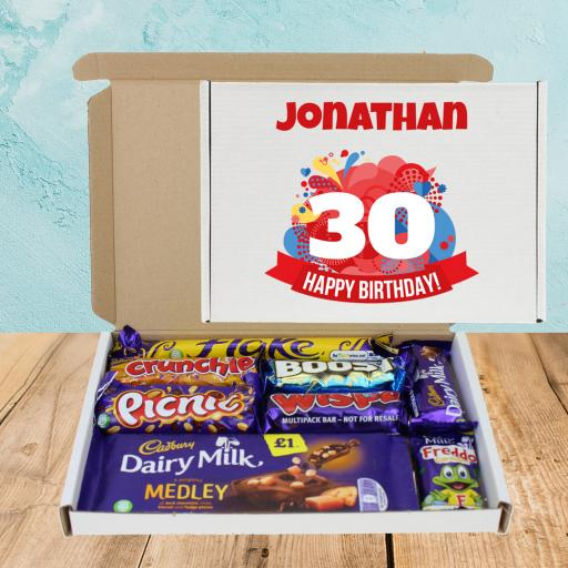 Send Cadburys Chocolate Orange ANY Age Birthday Box