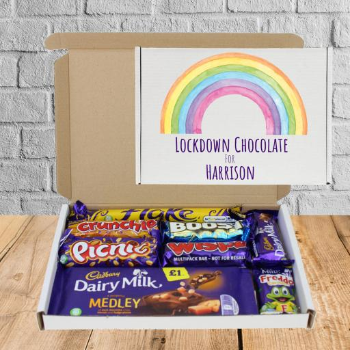 Send Cadburys Chocolate Rainbow Lockdown Box