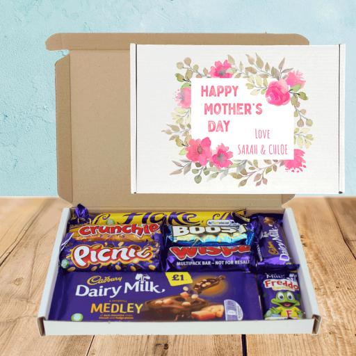 Send Cadburys Mothers Day Pink Flowers Chocolate Box