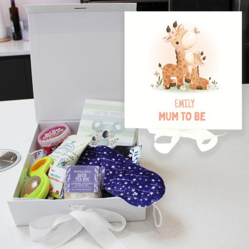 Personalised Mum To Be Pamper Box