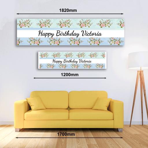 Personalised Banner - Flowers