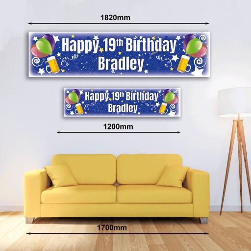 Personalised Banner - Beer & Balloons