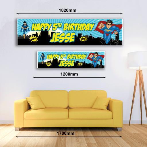 Personalised Banner - Superhero