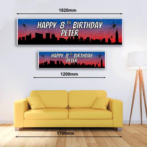 Personalised Banner - Spider