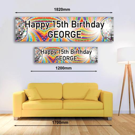 Personalised Banner - Disco