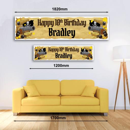 Personalised Banner - Pirate